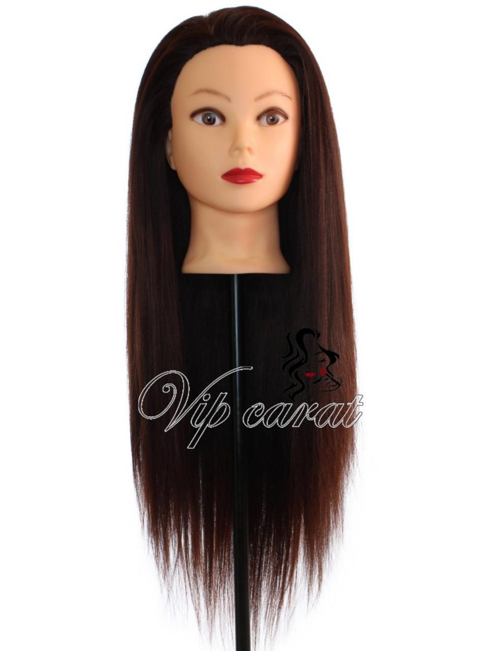 Навчальна голова манекен для зачісок з волоссям 30% натуральних / лялька для перукаря