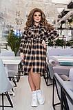 Трикотажное  женское платье - рубашка Размеры: 52,54,56,58!, фото 2
