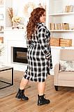 Трикотажное  женское платье - рубашка Размеры: 52,54,56,58!, фото 5