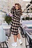 Трикотажное  женское платье - рубашка Размеры: 52,54,56,58!, фото 3