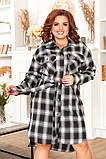 Трикотажное  женское платье - рубашка Размеры: 52,54,56,58!, фото 6