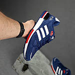 Чоловічі кросівки Adidas ZX 750 (сині з червоним) 10345 замшеві чоботи повсякденні спортивні кроси, фото 3