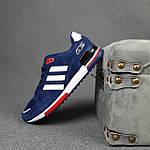 Чоловічі кросівки Adidas ZX 750 (сині з червоним) 10345 замшеві чоботи повсякденні спортивні кроси, фото 8