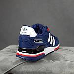 Чоловічі кросівки Adidas ZX 750 (сині з червоним) 10345 замшеві чоботи повсякденні спортивні кроси, фото 5