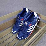 Чоловічі кросівки Adidas ZX 750 (сині з червоним) 10345 замшеві чоботи повсякденні спортивні кроси, фото 10