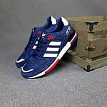 Чоловічі кросівки Adidas ZX 750 (сині з червоним) 10345 замшеві чоботи повсякденні спортивні кроси, фото 7