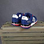 Чоловічі кросівки Adidas ZX 750 (сині з червоним) 10345 замшеві чоботи повсякденні спортивні кроси, фото 9