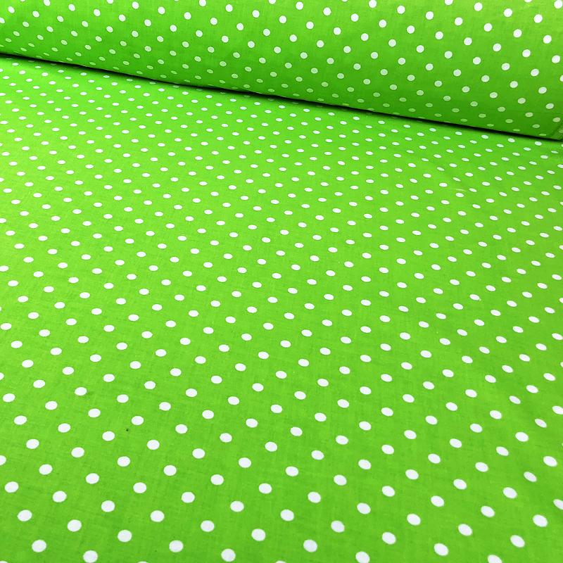 ✁ Отрезы бязи Горошки 2 мм на зелёном