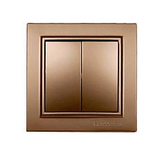 ElectroHouse Выключатель двойной Роскошно золотой