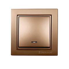 ElectroHouse Выключатель с подсветкой Роскошно золотой Enzo