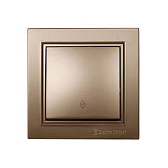 ElectroHouse Выключатель проходной Enzo Luxury Gold