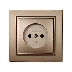 ElectroHouse Розетка без заземления 16A Enzo Luxury Gold