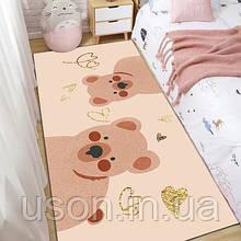 Коврик прямоугольный в детскую комнату Homytex 140*190 Bear bej