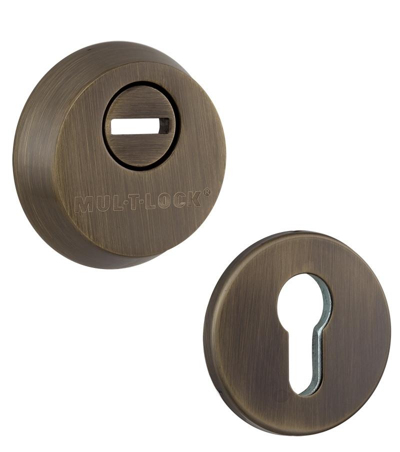 Бронинакладка MUL-T-LOCK SL3 DIN ROUND 14,5мм 58-63мм Бронза