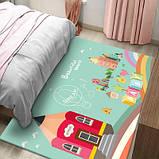 Коврик прямоугольный в детскую комнату Homytex 140*190  Beautiful word, фото 4