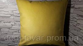 Подушка декоративная 40х40 желтая
