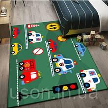 Коврик прямоугольный в детскую комнату Homytex 140*190  Cars grey