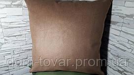 Подушка декоративная 40х40 коричневая