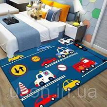 Коврик прямоугольный в детскую комнату Homytex 140*190  Cars mavi