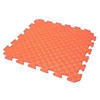 Детский коврик-пазл (мягкий пол татами ласточкин хвост) IZOLON EVA KIDS 50х50х1 см оранжевый