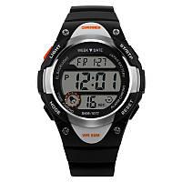 Skmei 1077 чорні дитячі спортивні годинник