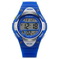 Skmei 1077 сині дитячі спортивні годинник, фото 1