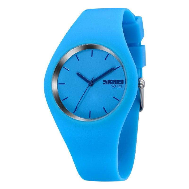 Skmei 9068 rubber синие женские часы