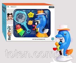 Іграшка для ванної Дельфін, пірамідка, сачок, тварини 9607