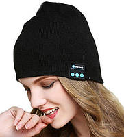 (УЦЕНКА) Шапка с Bluetooth 3.0 гарнитурой (Music Hat) черный (3719) (11511)