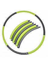 Обруч массажный Hula Hoop SportVida 90 см SV-HK0214 Grey/Green