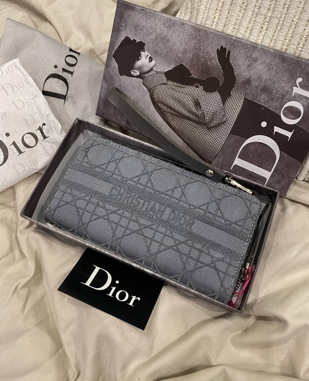 """Клатч женский Dior """"Серый"""""""