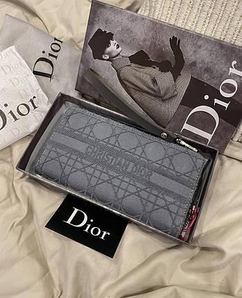 """Клатч женский Dior """"Серый"""", фото 2"""