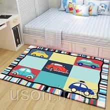 Коврик прямоугольный в детскую комнату Homytex 140*190  Colors cars