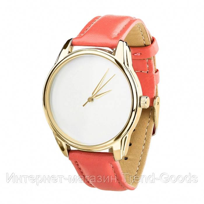 Часы Ziz Минимализм, ремешок клубнично-коралловый, золото и дополнительный ремешок SKL22-142874