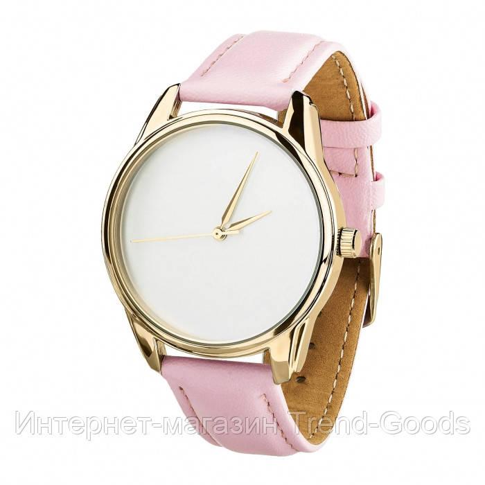 Часы Ziz Минимализм, ремешок пудрово-розовый, золото и дополнительный ремешок SKL22-142875