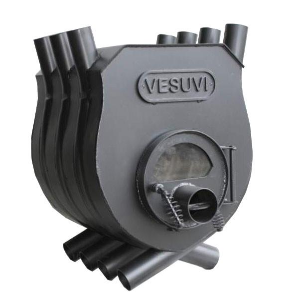 """Печь калориферная булерьян """"VESUVI"""" тип 01 c варочной поверхностью со стеклом"""