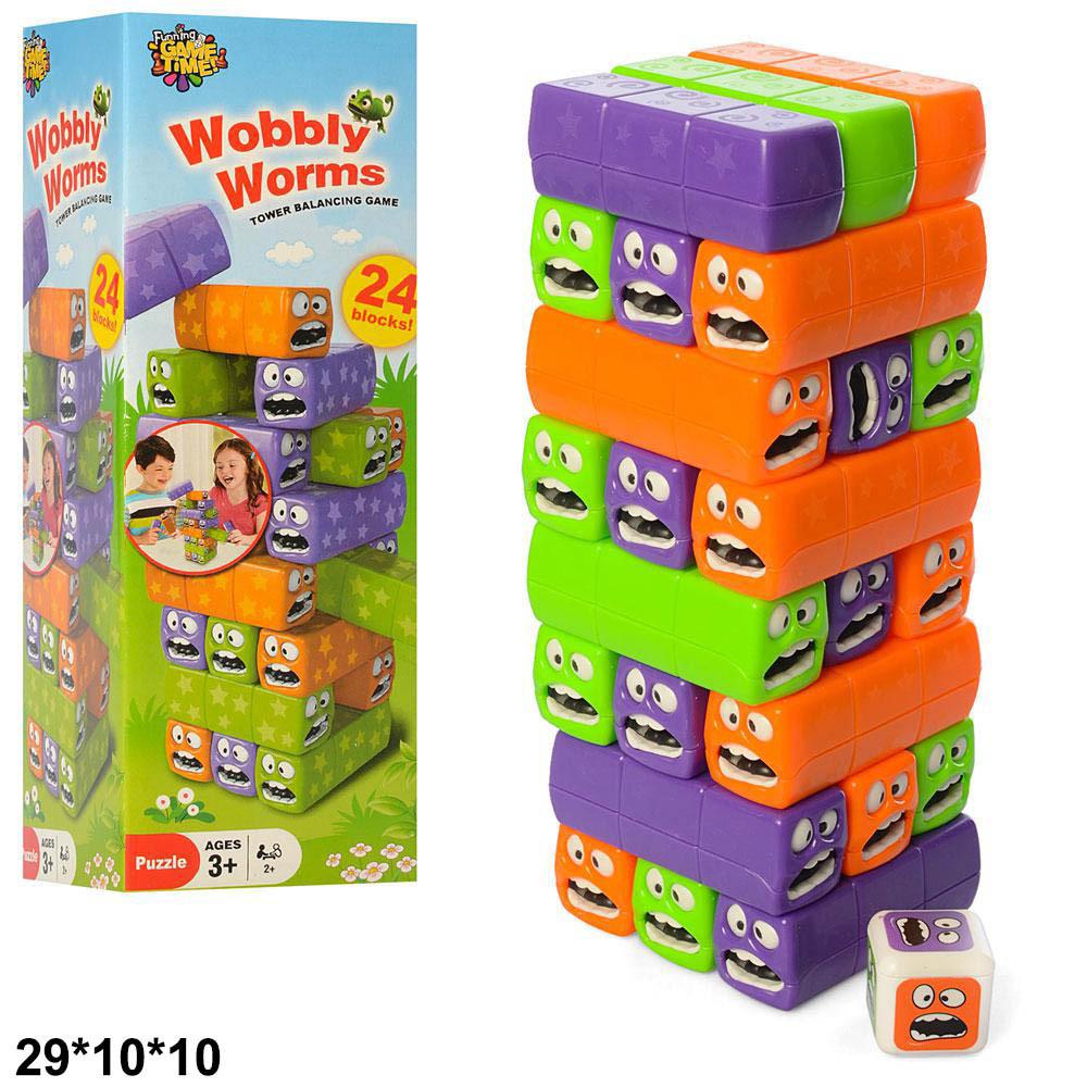 Іграшка дитяча гра Vega Дженга Wobbly Worms в коробці 3562