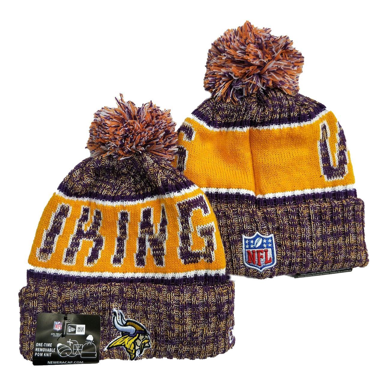 Шапка зимняя Minnesota Vikings /  SPK-227 (Реплика)