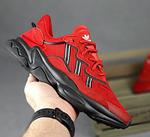 Мужские спортивные кроссовки Adidas Ozweego (красные) 10344 демисезонные низкие кроссы, фото 4