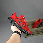 Мужские спортивные кроссовки Adidas Ozweego (красные) 10344 демисезонные низкие кроссы, фото 2
