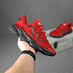 Мужские спортивные кроссовки Adidas Ozweego (красные) 10344 демисезонные низкие кроссы, фото 3