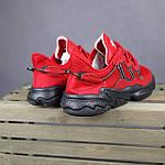 Мужские спортивные кроссовки Adidas Ozweego (красные) 10344 демисезонные низкие кроссы, фото 5