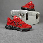 Мужские спортивные кроссовки Adidas Ozweego (красные) 10344 демисезонные низкие кроссы, фото 10