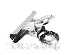 Прищепка зажим для ногтей металический
