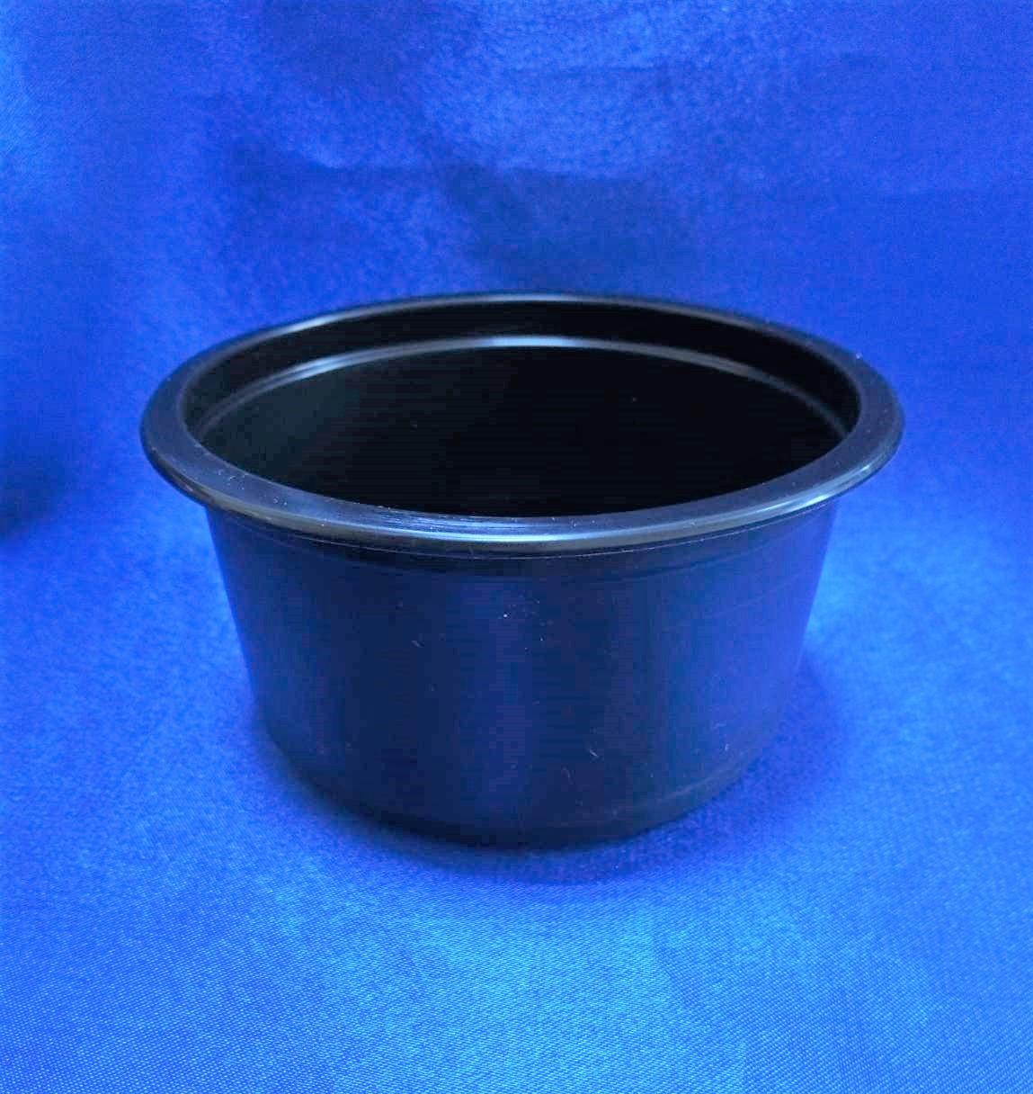 Контейнер пластиковий для їжі,РР чорний 500мл Ǿ=115мм, Ǿ=82,6 мм