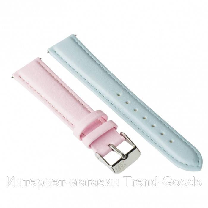 Ремешок для часов Ziz розово-голубой, серебро SKL22-142920