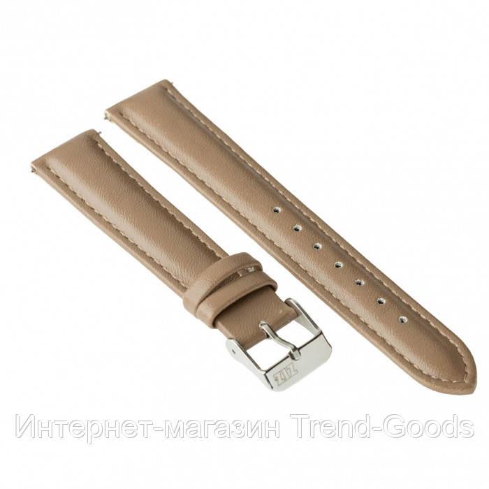 Ремешок для часов Ziz серо-коричневый, серебро SKL22-142892