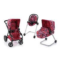 Игровой набор для девочки D-88850, коляска, стул для кормления, шезлонг, металл