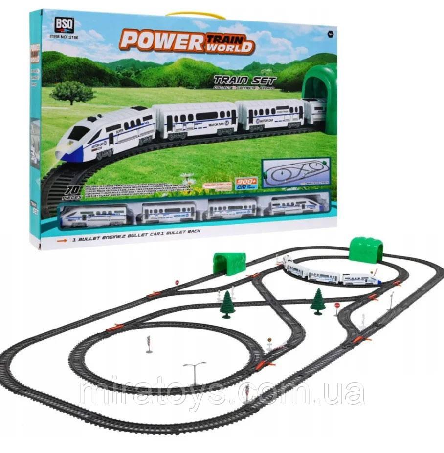 """Дитяча залізниця """"Стріла"""" 2186, швидкісний поїзд, довжина шляху 900 см, звук, світло"""