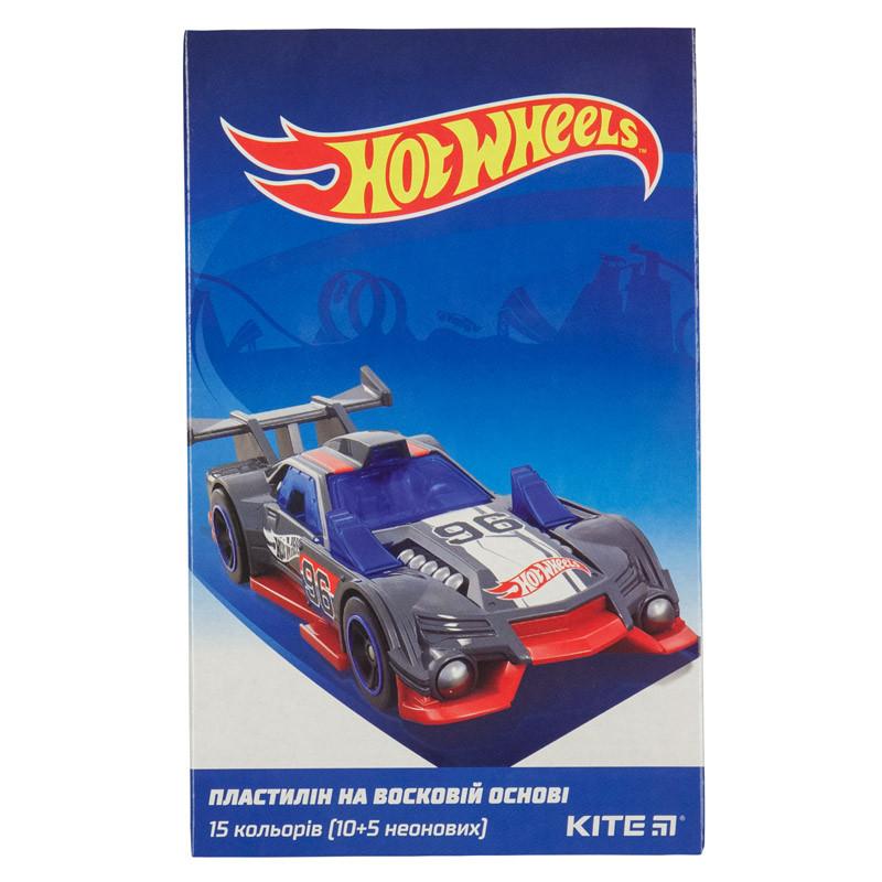 "Пластилін""Kite"" 15кол.225г воск. Hot Wheels HW19-087"